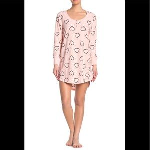 Betsey Johnson printed hearts fleece sleep shirt